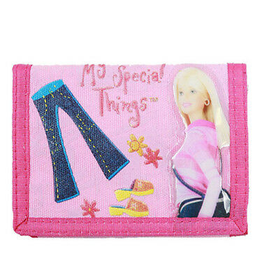 Mattel Barbie Doll Special Things Pink Girls Trifold Wallet/Card Holder for Kids