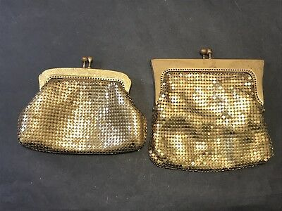 Vintage OROTON Gold Mesh Coin Purse, West Germany x 2