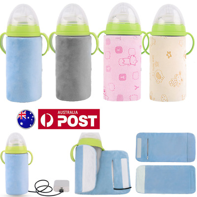 USB Heating Milk Bottle Insulation Bag Cup Hang Warmer Thermal  Pouch Baby Cover