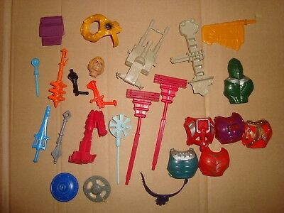 Masters Of The Universe Lotto 25 Accessori Usati Mattel Anni '80 (Motu/He-Man)