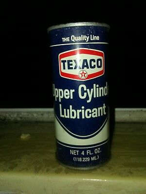 Vintage Texaco Upper Cylinder Lubricant 4 FL. OZ Can Full and sealed