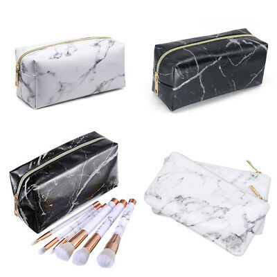 NEW Marble Purse Box Travel Makeup Cosmetic Bag Toiletry Pencil Case Stationery