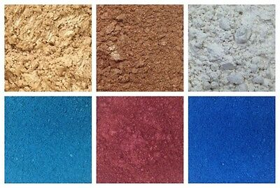 Exquisite Mica Pearl Pigments - Powder Glitter Cosmetics Crafts GOLD SILVER