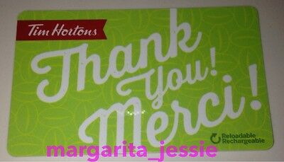 "Tim Hortons Canada 2016 Gift Card Green ""thank You/merci"" Fd51885 No Value #6126"