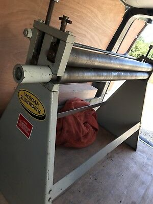 Morgan Rushworth GEARED rollers 1250x1.6 hand rolls for sheet metal