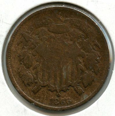 1866 2-Cent Coin - Two Cents - AR404