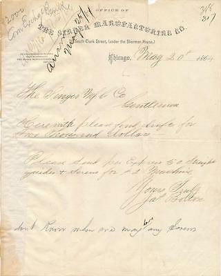 James Bolton- Singer Sewing Machine inventor- Signed 1864 Document