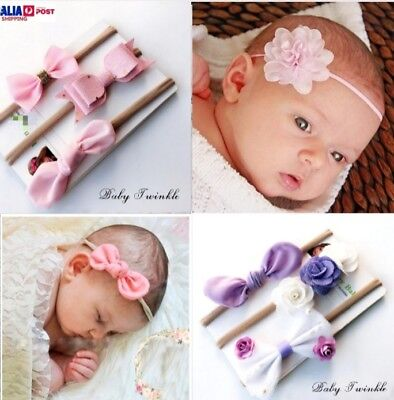 Newborn Baby Girl Headband Set 1x 2x 3x or 4x