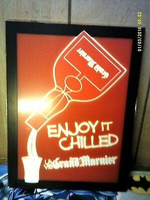 Grand Marnier LED Lighted Sign 14/10 inches NEW
