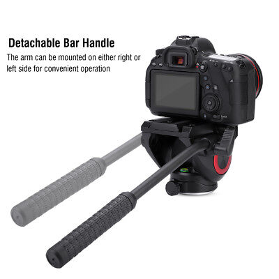 Hydraulic Video Fluid Tripod Ball Head + Quick Release Plate for DSLR Camera TP