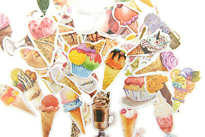 50 pieces ice cream Party Stickers Pack for junk bullet journal notebook