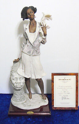 G. Armani Capodimonte Florence African American Lady Figurine Nicole 0651-C 18""