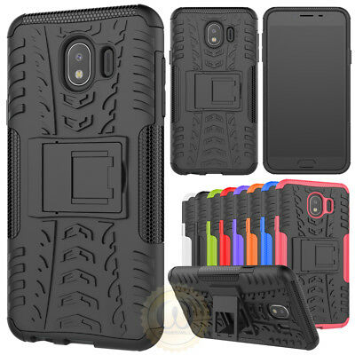 For Samsung Galaxy J4 (2018) Shockproof Protective Case Hybrid Kickstand Cover