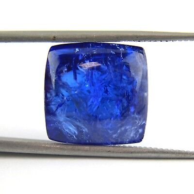 Tanzanite Square Cabochon 24,16 ct- 15x15,5x10,5 mm circa