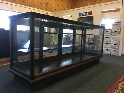 Antique Oak Wood / Glass  Display Case, General Store, Country Store, 8 Feet