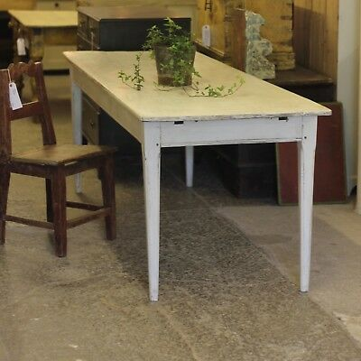 large french painted fruitwood painted table