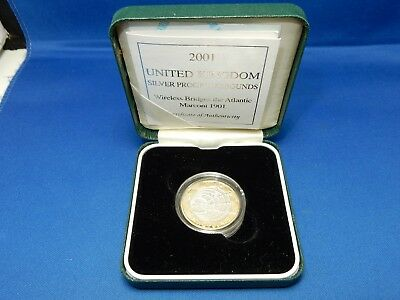 2001 United Kingdom Silver Proof £2 Coin with Case & COA