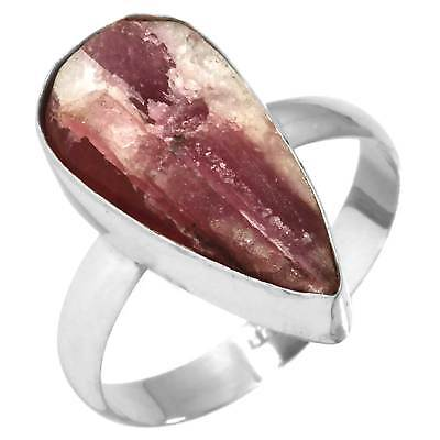 Pink Tourmaline In Quartz Jewelry Solid 925 Sterling Silver Ring T 1/2 TU52756