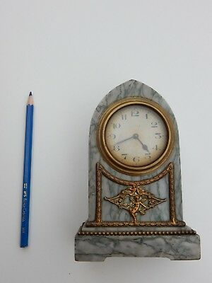 Belle Epoch  Marble And Brass Boudoir Clock   To Restore