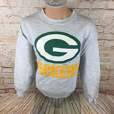 Vintage 1993 Green Bay Packers NFL Sweater Grey Sz XL Mens