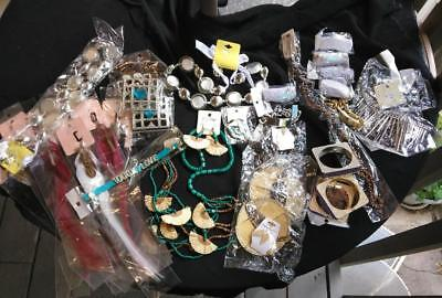 Huge Lot of Costume Jewelry New in Package Over 50 pc 8 lbs