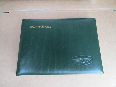 Brand New Genuine Bentley Arnage Owners Handbook In French Tsd7821
