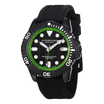 Stuhrling 328R 335671 Herren Aquadiver Regatta Atlantis Analoges Ziffernblatt