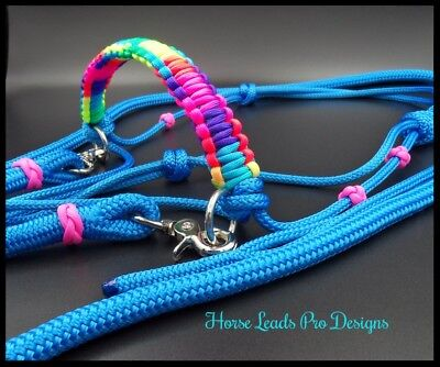 Rope Reins and Side Pull Halter Bridle Set for Natural Horsemanship Top Quality