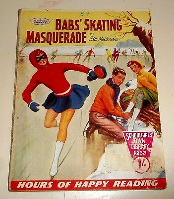 #321 Schoolgirl's Own Library Comics ~ BABS' SKATING MASQUERADE ~ 1960