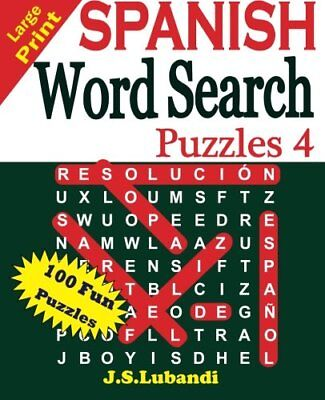 Large print spanish word search puzzles volume 1spanish edition large print spanish word search puzzles 4 volume 4 spanish edition fandeluxe Choice Image