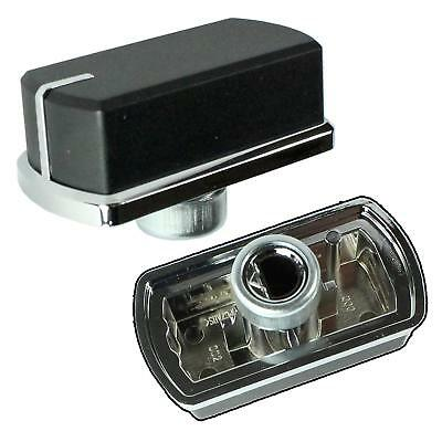 Genuine Belling Hob Oven Cooker Control Switch Knobs Black / Silver, Pack of 2