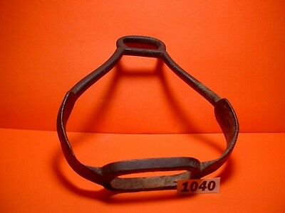Very Rare 1700's Antique Bronze Ladies Side-Saddle Riding Stirrup Great Patina