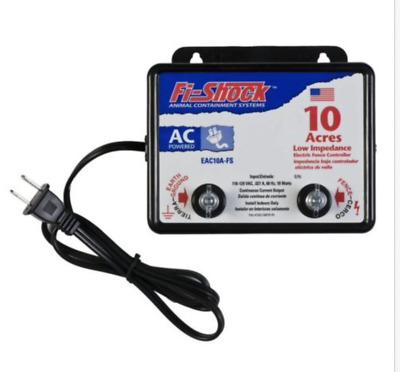 NEW Fi-Shock EAC10A-FS Electric Fence Charger AC-Powered 10 Acre Small Animal