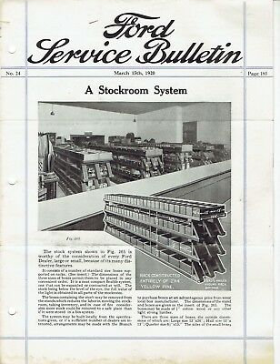 Ford Service Bulletin March 15 1920 Original Model T Car and Fordson Tractor