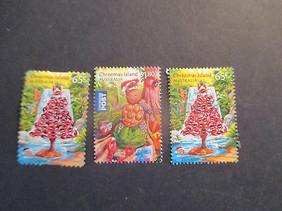N0-1--2015  Christmas   Island Christmas  Issues  3  Stamps -Both  Perf; --A1