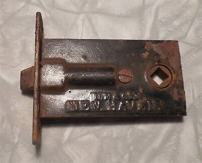 "Antique 1850's ""Davenport & Mallory Co."" Door Lock - New Haven"
