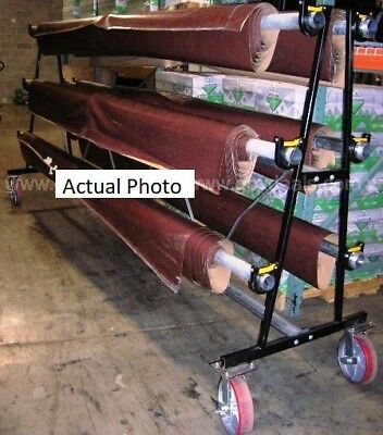 Gym floor cover (6 Rolls) & Storage Rack: CoverSports.