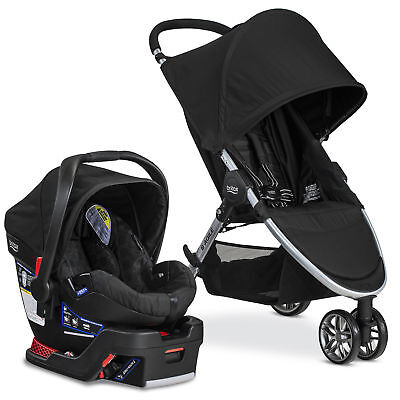 Britax 2017 B Agile & Safe 35 Travel System Black Strollers Accessories Baby