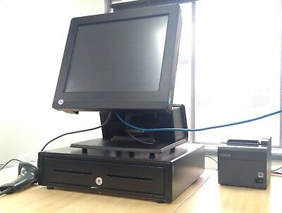 HP RP7 POS System Refurbished Barcode Scanner & Receipt Printer