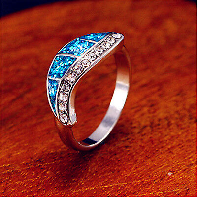 Women White Gold Plated Leaf Dripping Oil Rings Men Rings Party Gift JZ088