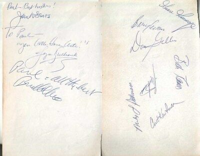 John W. Sears / Goose Gossage / Bud Collins Autographed Page and 10 Others