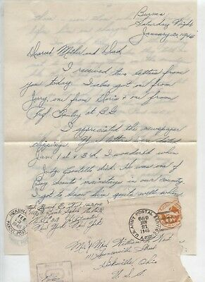 B-25 squadron Burma Bridge Buster WWII Army Military Letter Home Hicksville Ohio