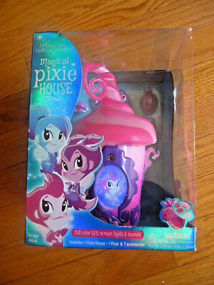 NEW Magical Pixie House Pink Color LCD Screen Of Dragons Fairies & Wizards NIB