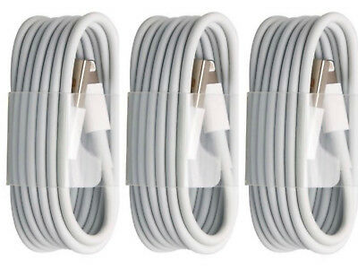 3-PACK USB Data Cables Cords Charging Charger For Apple iPhone 6 7 8 X Plus 5 S