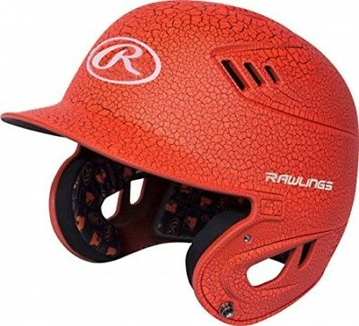 Rawlings R16 Serie Crackle Schlagmann Helm, Neon Orange, Senior