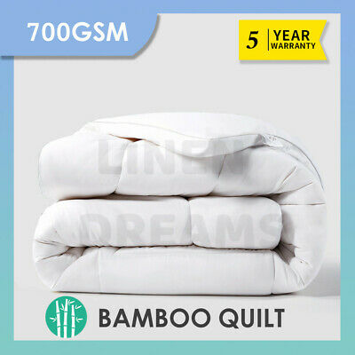 Aus Made All Size Microfiber Microfibre Bamboo Down Winter Quilt Duvet Doona