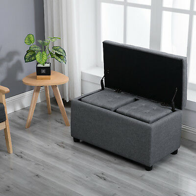 Sensational Samincom 3 Piece Storage Bench Cube Ottoman Set H44 X W84 X Ncnpc Chair Design For Home Ncnpcorg