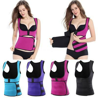 Tank Top Body Shaper Thermal Workout Corset Waist Cincher Girdle Slim Women A5S0