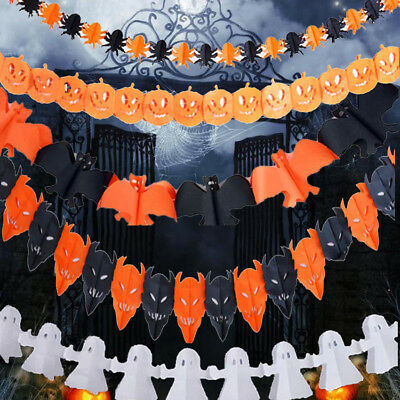Happy Halloween Party Bunting Decoration Banner Garland NEW HOT E3M8