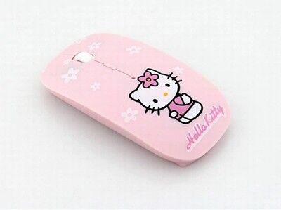 US-Wireless Mouse Ultra Thin Hello Kitty Computer Mouse 2.4GHz 1600DPI